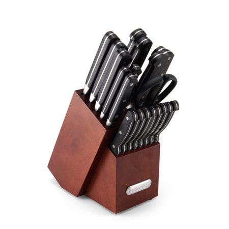 Farberware Edgekeeper Forged Triple-Riveted Knife Set, 21 Piece