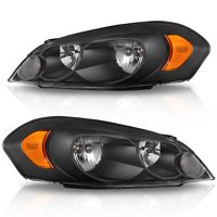 Product Image For 2006 2016 Chevy Impala Black Housing Amber Corner Per Headlights Lh Rh Us