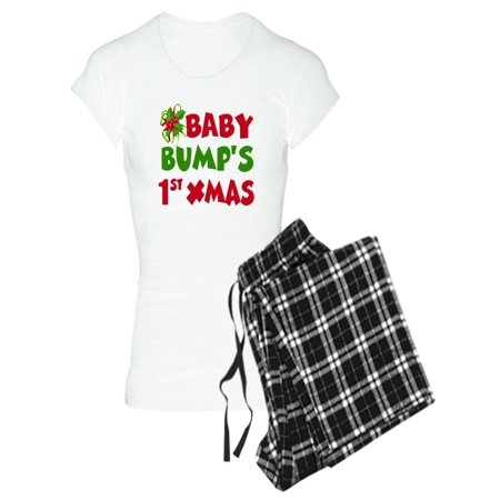 CafePress - Baby Bump 1St Christmas Pajamas - Women's Light Pajamas