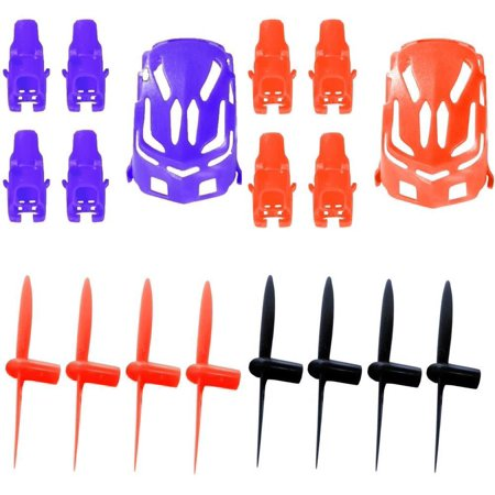 Hubsan Nano Q4 H111  Qty  1  Nano Body Shell H111 01 Purple Quadcopter Frame W  Motor Supports  Qty  1  Red  Qty  1  All Black Propeller Blade Set 32Mm Propellers Blades Props Quad Drone Parts  Qty  1