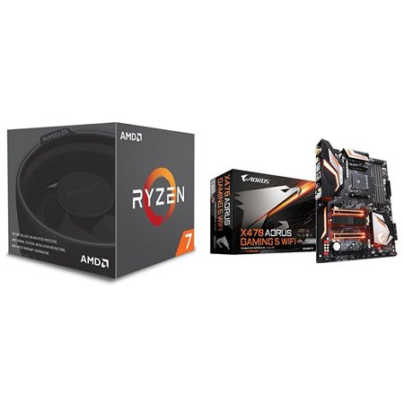 AMD Ryzen 7 2700 Processor with Wraith Spire LED Cooler and X470 AORUS Gaming 5