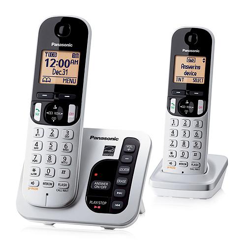 Panasonic KX-TGC222S DECT 6.0 1.9GHz 2 Handset Expandable Cordless Phone