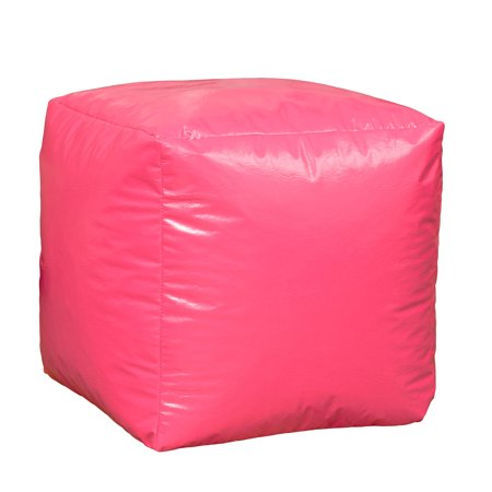Enjoyable Granbury Vinyl Bean Bag Cube Ottoman Pouf Gmtry Best Dining Table And Chair Ideas Images Gmtryco