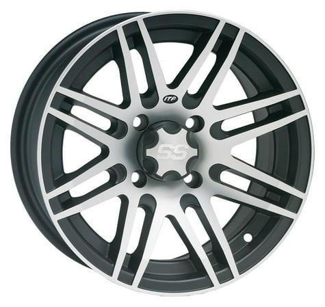 ITP SS316 Aluminum Wheel Front Or Rear 12x7 Machined W/Black Fits 03-05 Honda TRX650FA RINCON 4x4