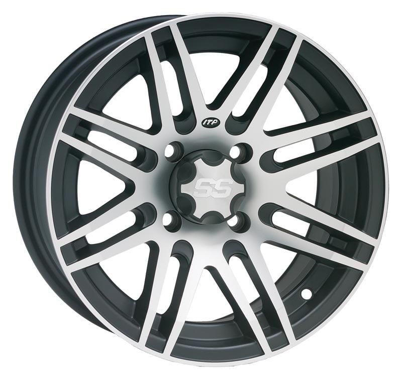 ITP SS316 Aluminum Wheel Rear 14x7 Machined W/Black Fits ...