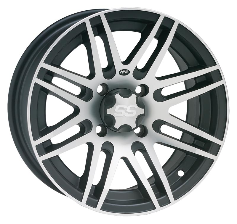 ITP SS316 Aluminum Wheel Front Or Rear 14x7 Machined W/Black Fits 2012 Arctic Cat Wildcat 1000