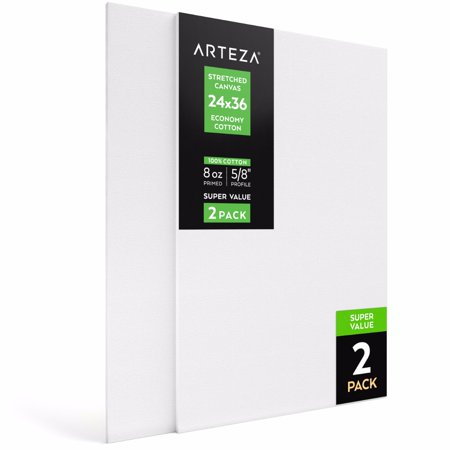 Arteza 24  X 36  Stretched Canvas  Pack Of 2