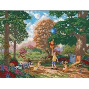 M.C.G. Textiles 52511 Pooh and Friends II Disney Dreams Collection by Thomas Kinkade Counted Cross Multi-Colored