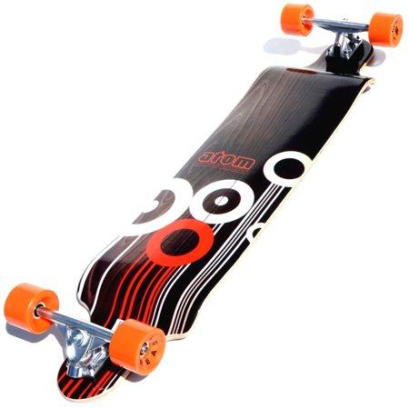 Atom Drop Deck Longboard - 41 Inch (Orange)