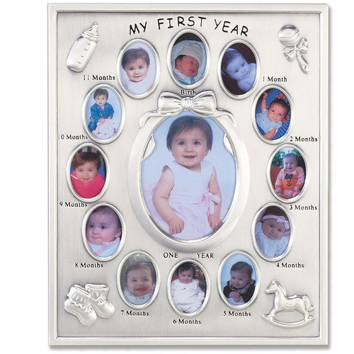 Lawrence Frames 830080 Lawrence Frames Silver Plated My First Year Picture Frame