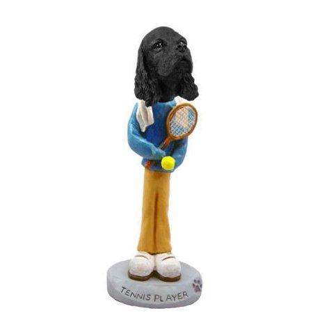 No.Doog15B26 Cocker Spaniel Black Tennis Player Doogie Collectable Figurine ()