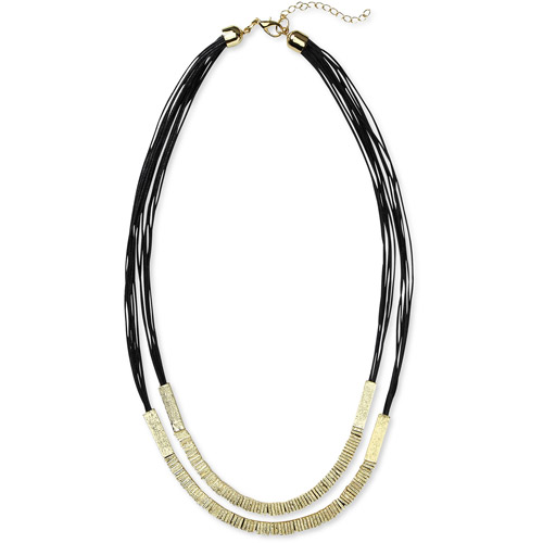 Multi Strand Black and Gold Tone Necklace by Isabella Lazarte for Full Circle Exchange