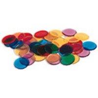 Transparent Counters 250-Pk-3/4 6 Colors