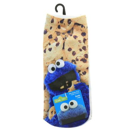 Sesame Street Cookie Monster Unisex Ankle Socks 1 Pair Size 9 - 11 - Sesame Street Cookies