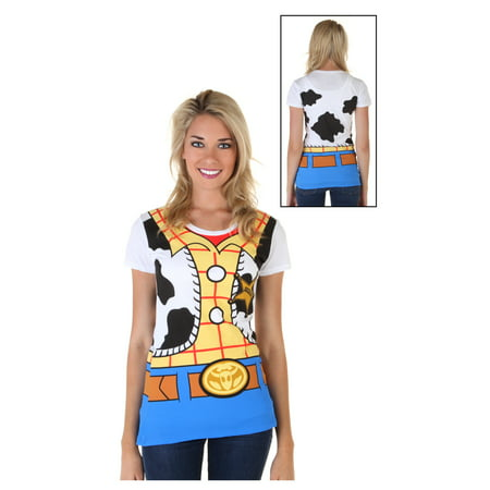 Womens Toy Story I Am Woody Costume T-Shirt (Womens Am Set)
