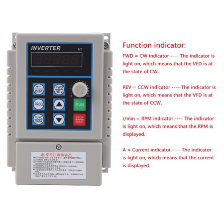 Anauto 1pc AC 220V 0.75kW Variable Frequency Drive VFD Speed Controller Inverter Single Phrase, Variable Speed Drive, Adjustable-Frequency
