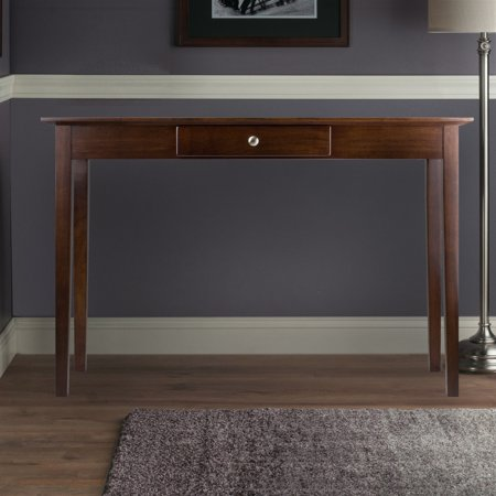 - Winsome Wood Rochester Console Table with Drawer, Walnut Finish