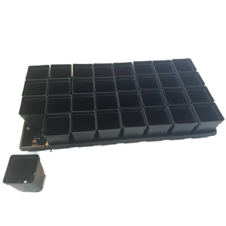 """Image of """"Set of 3 TRAYS AND 96-2.5"""""""" SQUARE EXTRA deep pots by Landmark Plastics"""""""