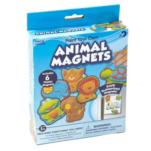 Kids Craft 6pc Plaster Magnet Kit