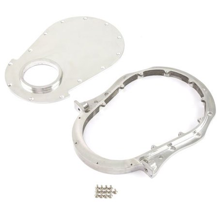 Speedmaster PCE265.1038 Polished Aluminum 2-Piece Timing Chain Cover