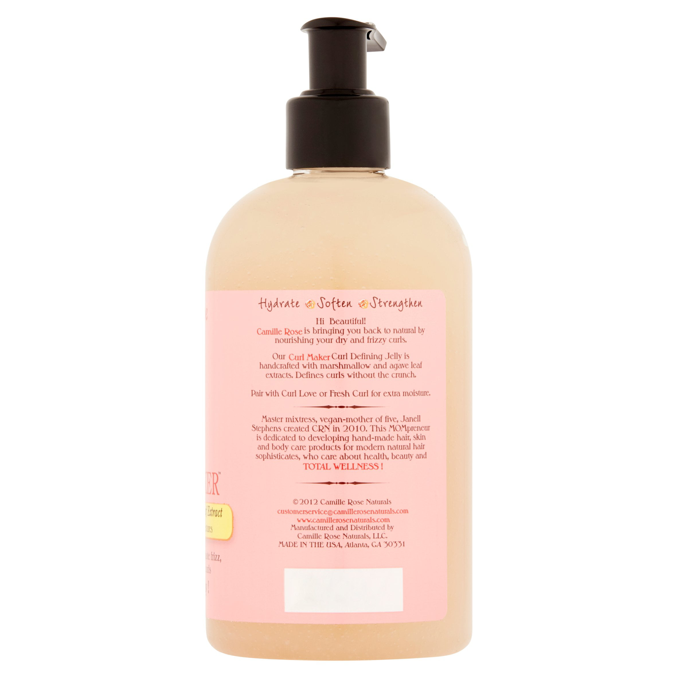 Camille Rose Naturals Curl Maker Marshmallow & Agave Leaf Extract, 12 0 OZ