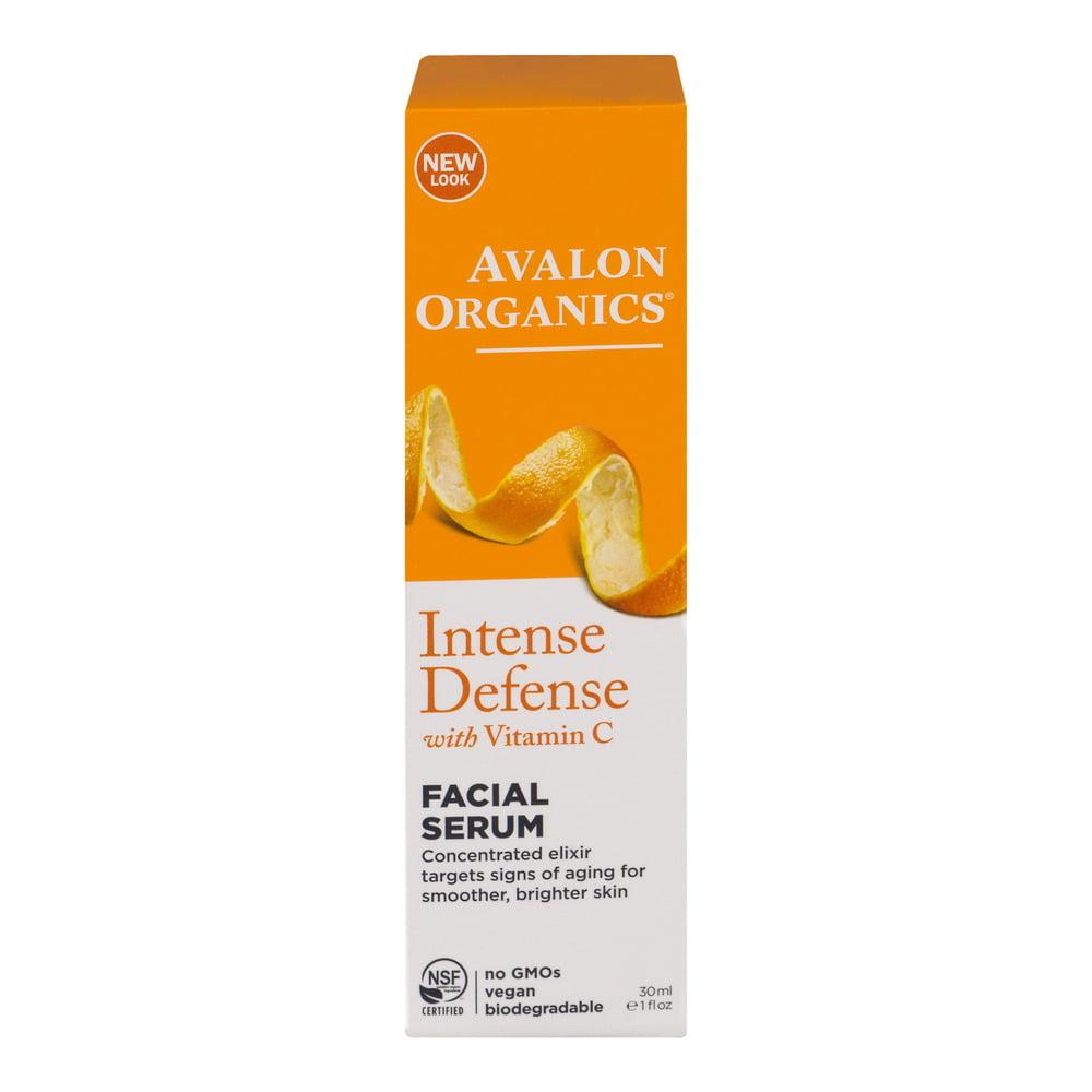 Avalon Organics Intense Defense with Vitamin C Facial Serum, 30.0 ML