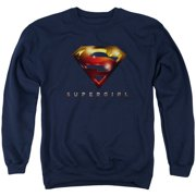 Supergirl Logo Glare Mens Crew Neck Sweatshirt