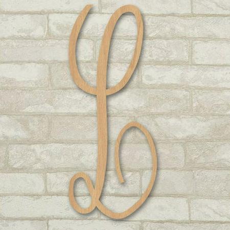 16 Master Circle Script Wood Mongram Single Letter Wall Décor L Instructions Below