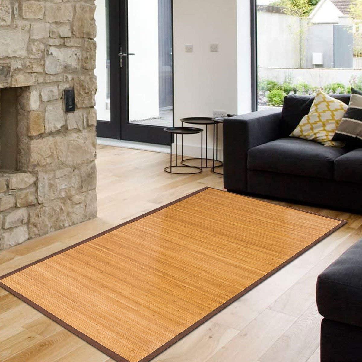 Topcobe 5 X 8 Bamboo Floor Mat Foldable Bamboo Rug Area Rug Floor Carpet For Indoor Outdoor Bathroom Kitchen And Bedroom Walmart Com Walmart Com