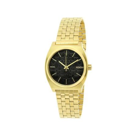 Nixon Time Teller A0452478 Gold Stainless-Steel Japanese Quartz Fashion Watch