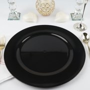 """Efavormart 24 pcs 13"""" Round Charger Plate Dinner Chargers for Tabletop Decor Holiday Wedding Catering Event Decoration"""