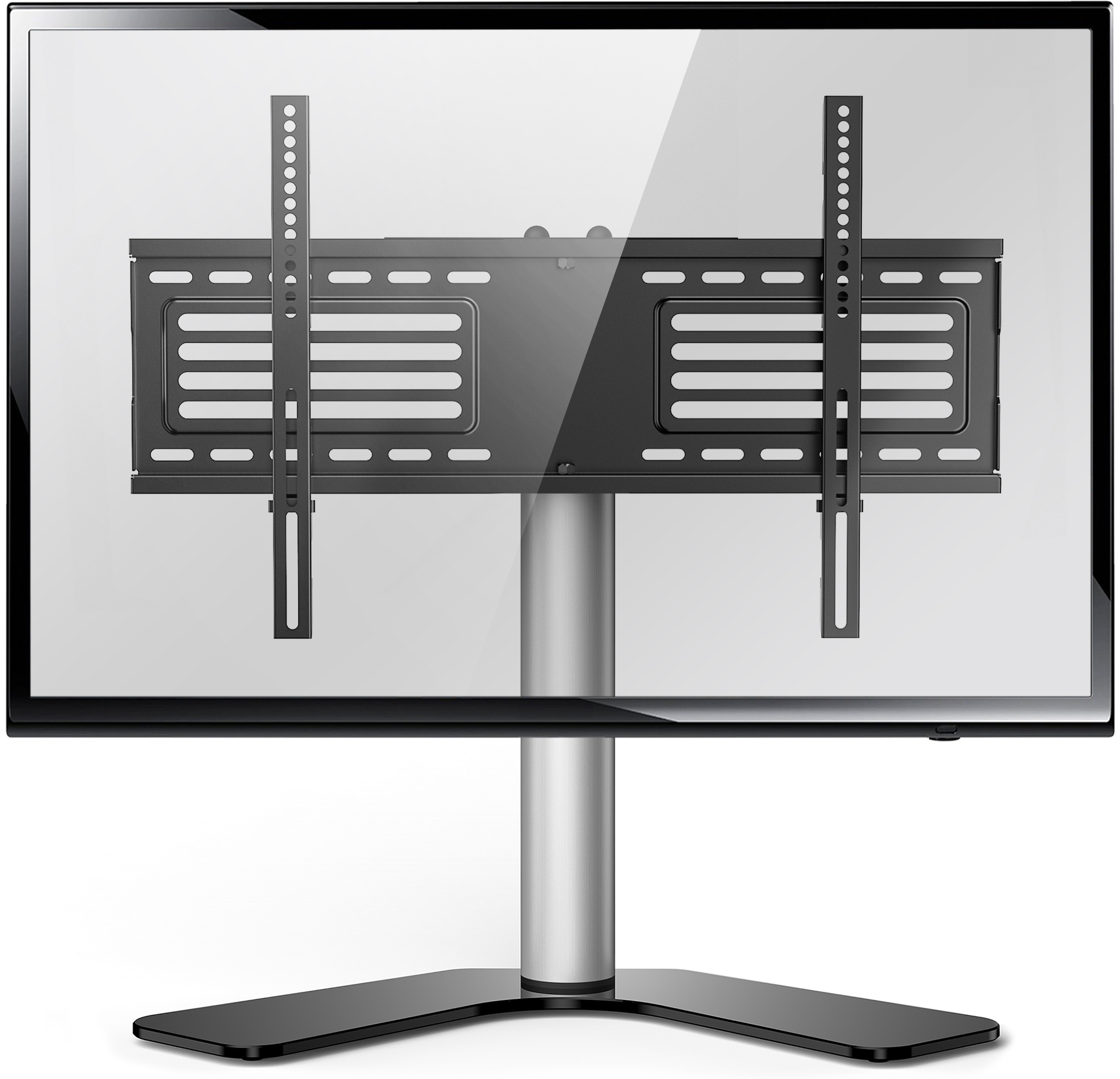 Fitueyes Universal Swivel Tabletop Tv Stand Base For Up To 65 Inch