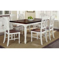 Home Styles Monarch White Sanded and Distressed Oak Kitchen Furniture Collection