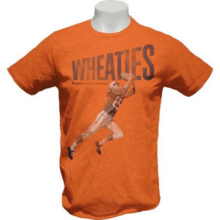 Wheaties Football T-Shirt Breakfast Of Champions Vintage Cereal Box Orange