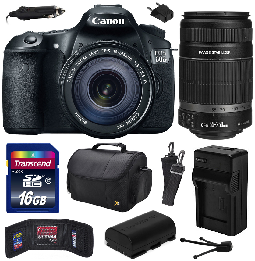 Canon EOS 60D 18 MP CMOS Digital SLR Camera with 18-135mm...