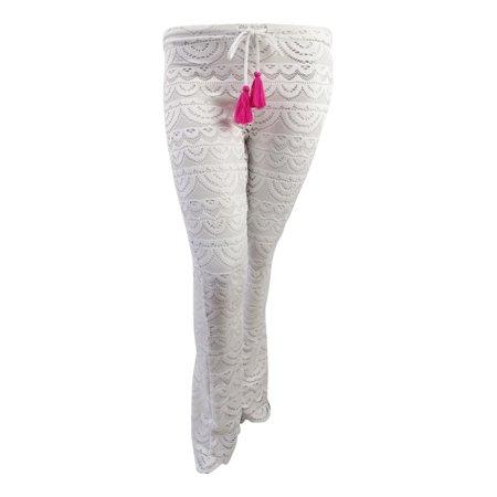 Miken Miken Juniors Scalloped Crochet Cover Up Pants Walmartcom