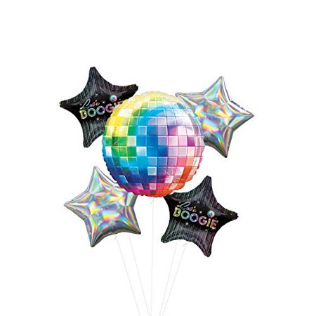 Dance Party Supplies (70's Disco Fever Dance Party Supplies Let's Boogie Balloon Bouquet)