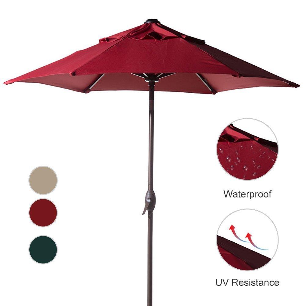 Abba Patio 7-1 2-FT Round Outdoor Market Patio Umbrella with Push Button Tilt and Crank... by Abba Patio