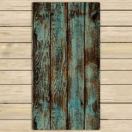 GCKG Wood Printed Towels,Vintage Rustic Old Barn Wood Printed Beach Bath Towels Bathroom Body Shower Towel Bath Wrap For Home,Outdoor and Travel Use Size 30x56 inches ()