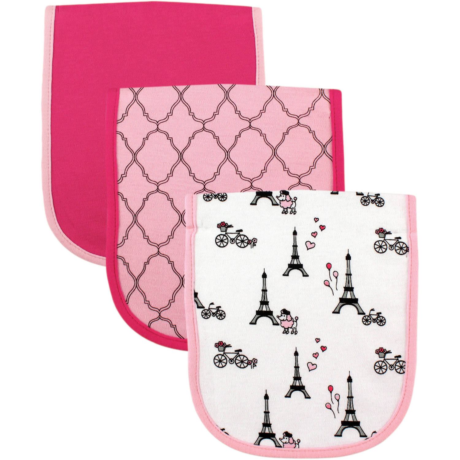 Luvable Friends Burp Cloth, 3pk, Paris