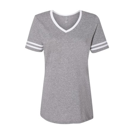 Jerzees T-Shirts Triblend Women's V-Neck Varsity T-Shirt 602WVR (Varsity Oxford)