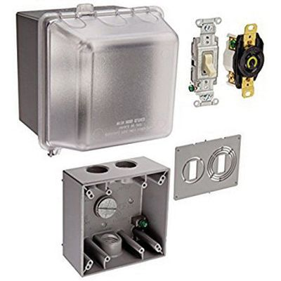 hubbell wiring hblpkl520 3 wire 2 pole pool pump receptacle kit 15 rh walmart com Pool Pump Wiring Diagram for 230 Volt Circuit Electric Pool Heater Wiring