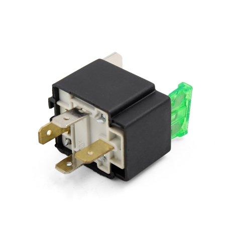Fuses Relays (Universal Car 4 Terminals DC 12V 30A Black Power Relay Socket w 30A)
