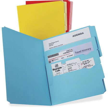 - Pendaflex, PFX10773, Divide It Up Multi-Section File Folders, 12 / Pack, Blue,Red,Yellow
