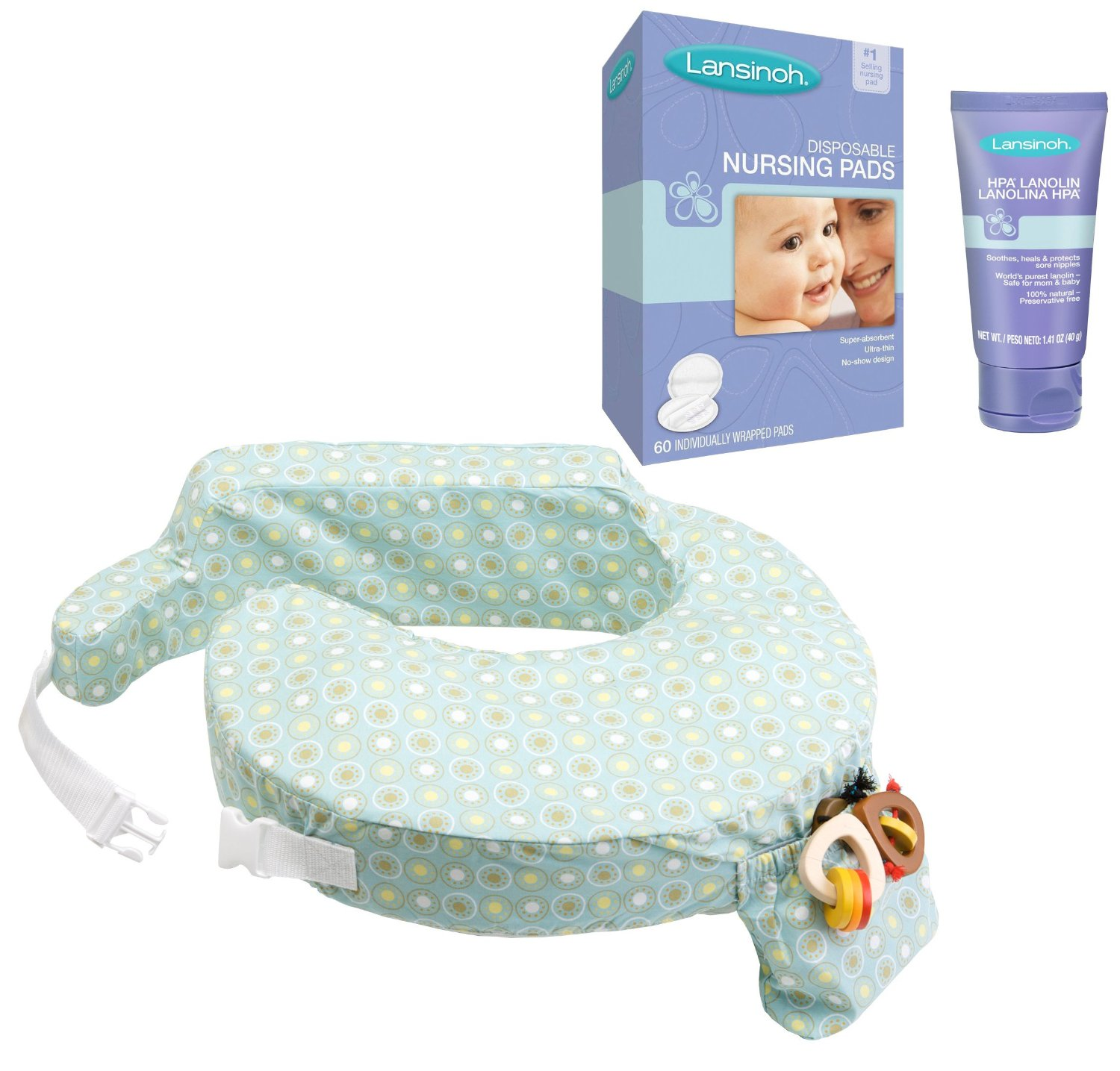 My Brest Friend Original Nursing Pillow with HPA Lanolin & Nursing Pads, Sunburst by My Brest Friend