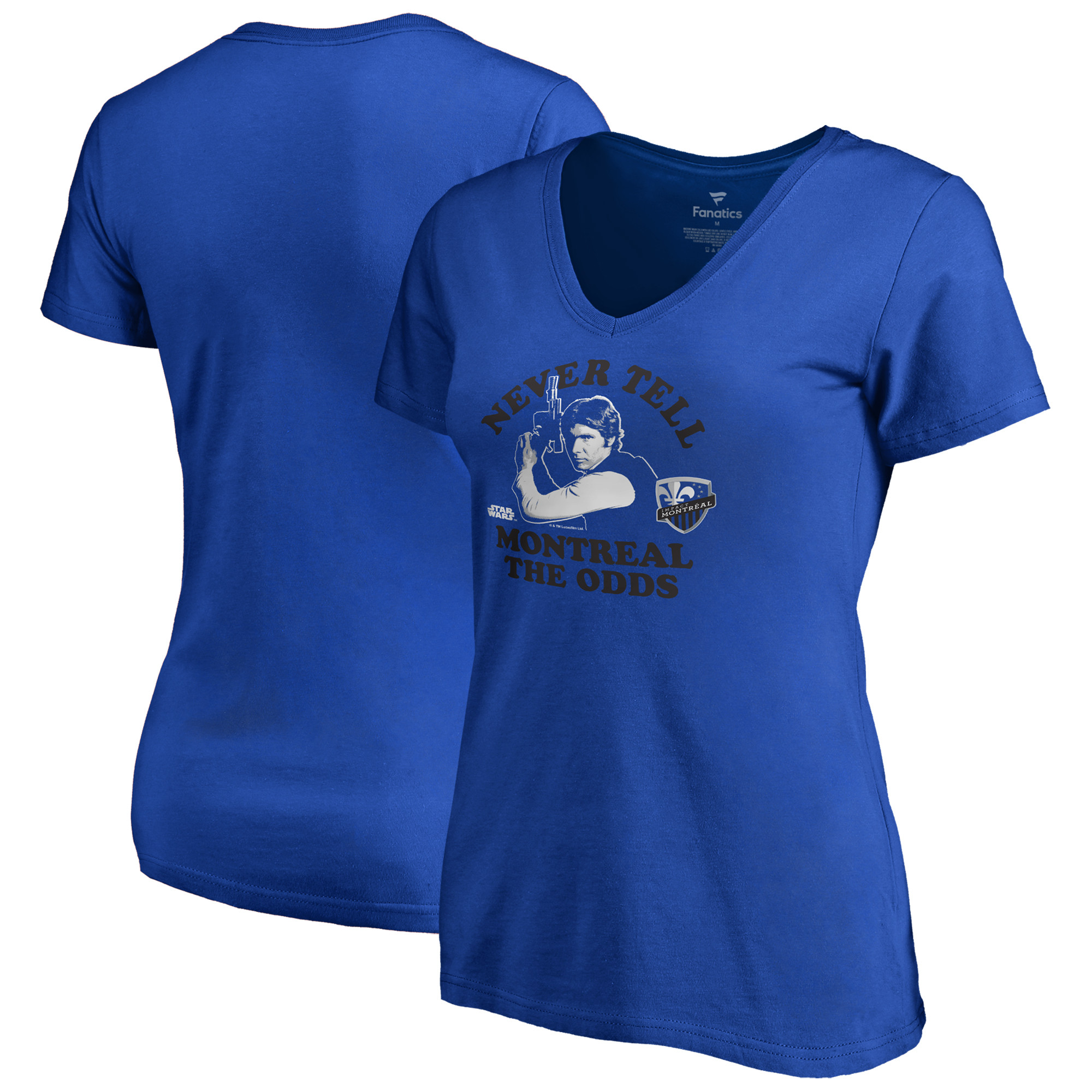 Montreal Impact Fanatics Branded Women's Star Wars Never Tell the Odds V-Neck T-Shirt - Royal