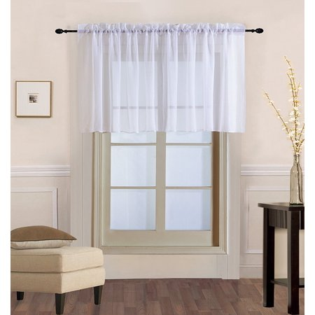 Decotex 1 Piece Elegant Solid Sheer Window Curtain Panels Treatment Drapes (55