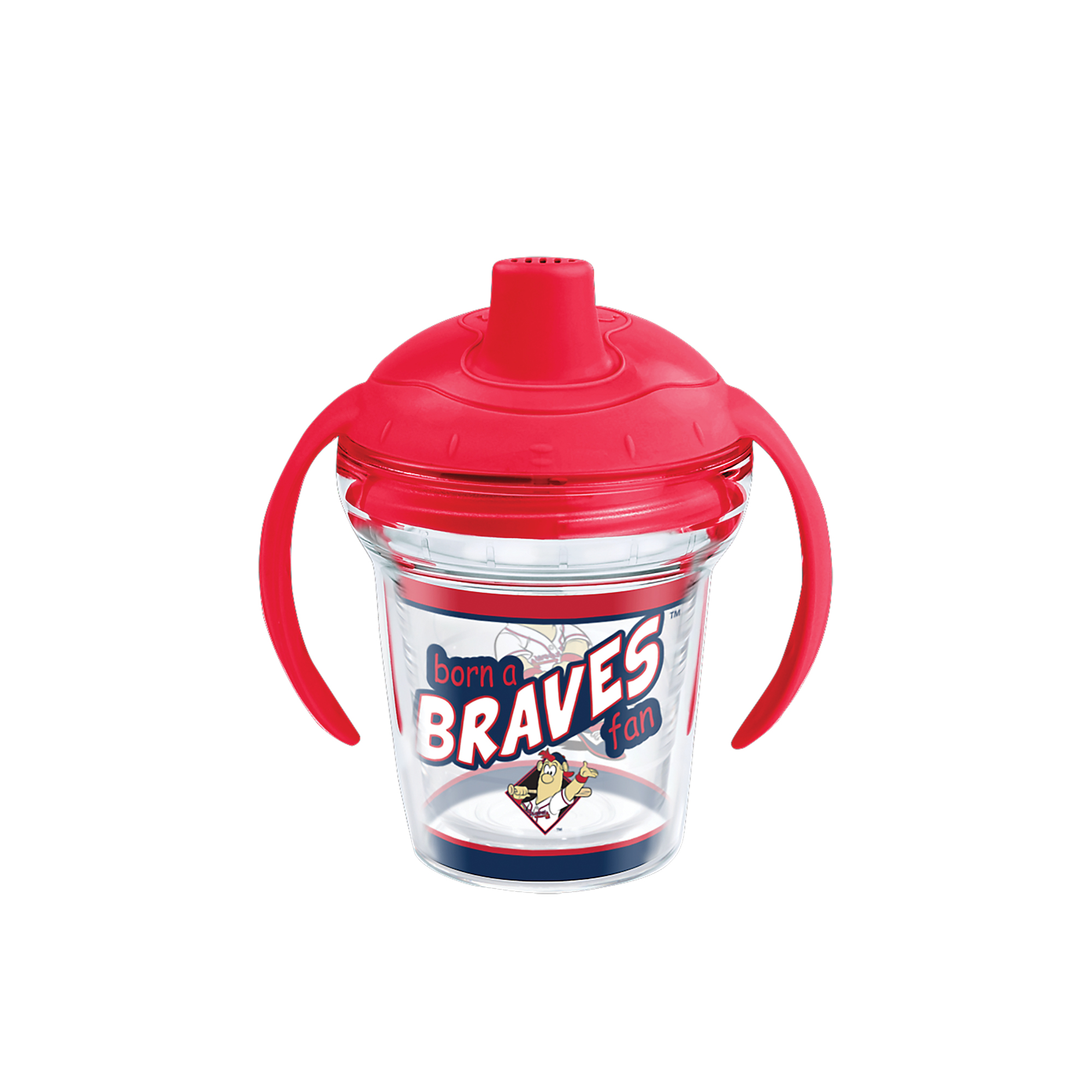 MLB Atlanta Braves Born A Fan 6 oz Sippy Cup with lid