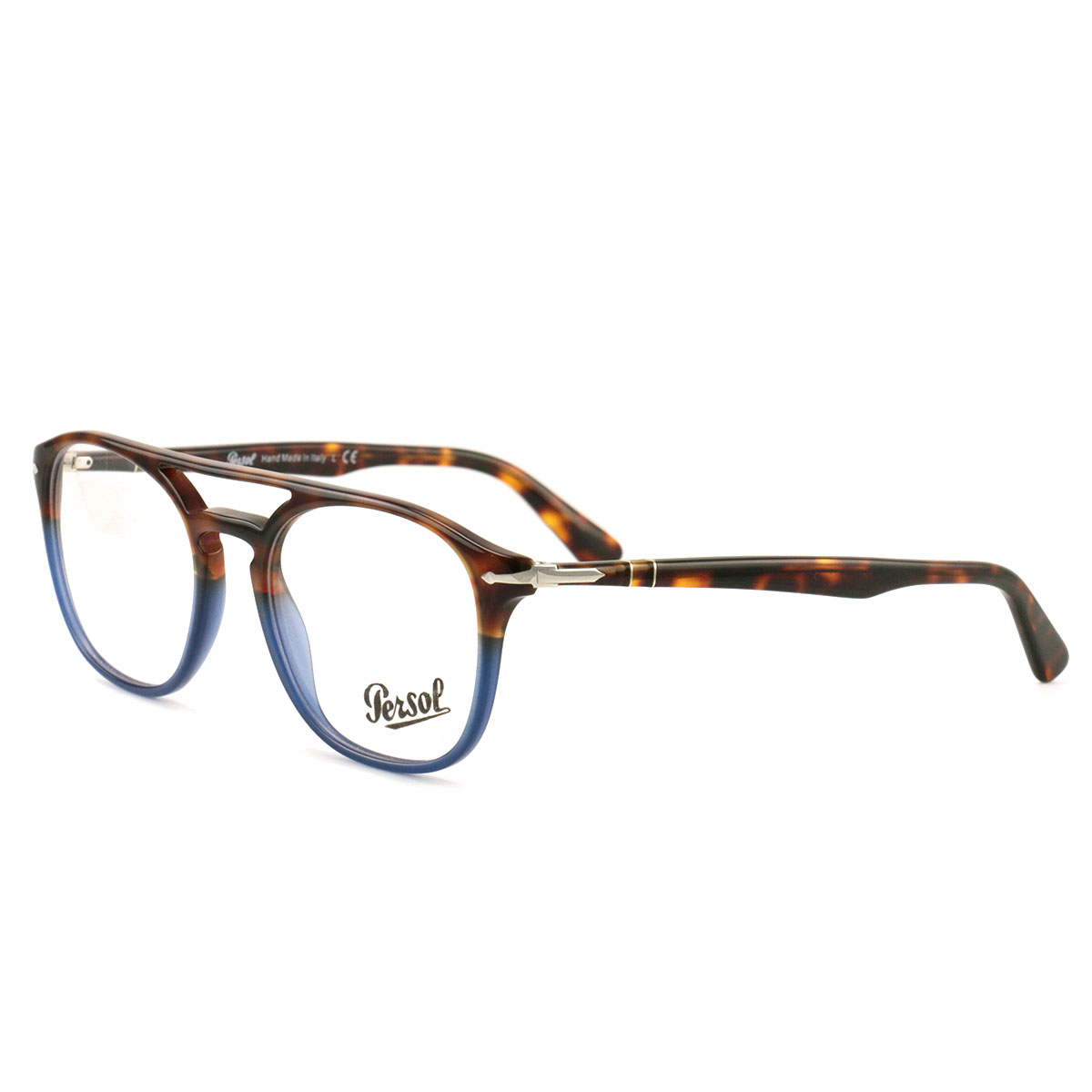 2e637f35f9c82 Persol Men Blue Square New Eyeglasses PO 3175 V 9045 Terrae Oceano 52  Plastic - Walmart.com