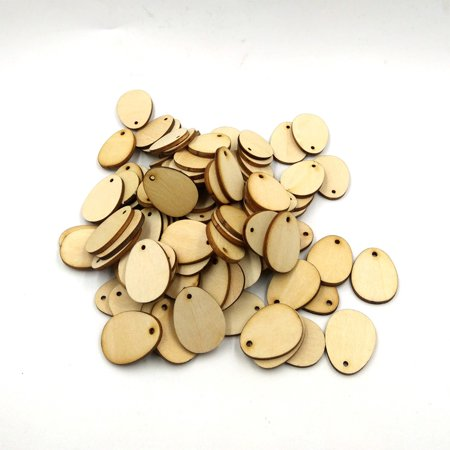 "100Pcs Wooden Easter Eggs Wood Craft For Easter Decorations Tag by Iuhan""](Butterfly Eggs For Sale)"